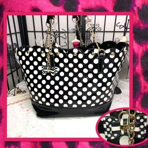 Betsey Johnson Polka Dot Tote